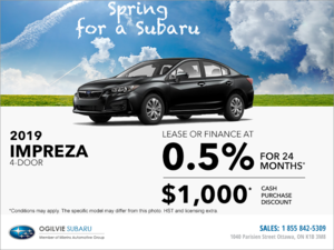 Get the 2019 Subaru Impreza 4-Door Today!