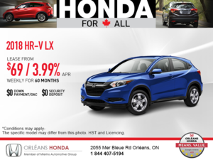 Lease the 2018 Honda HR-V!
