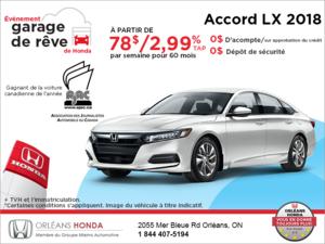 Louez la Honda Accord Sedan 2018!