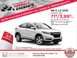 Louez le Honda HR-V 2018!