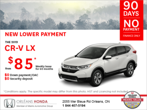 Lease the 2019 Honda CR-V!