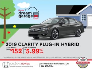 Lease the 2019 Honda Clarity!