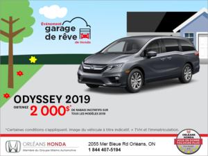 Obtenez la Honda Odyssey 2019!