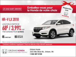 Économisez sur la Honda HR-V 2018 dès aujourd'hui!