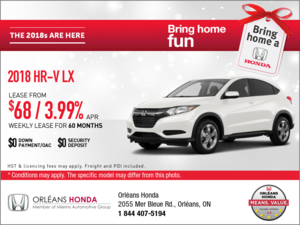 Save on the 2018 Honda HR-V Today!