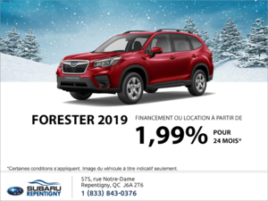 Procurez-vous le Forester 2019!