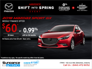 Get the new 2018 Mazda3 Sport today!