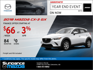 Save on the 2018 Mazda CX-3 Today!