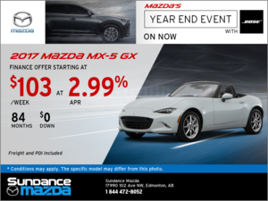 Save on the 2017 Mazda MX-5 GX