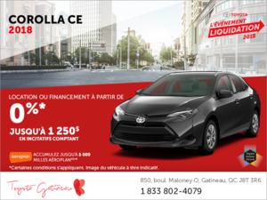 Toyota Corolla CE 2018