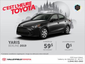 Toyota Yaris Berline 2019