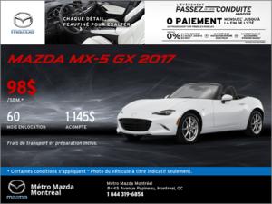Obtenez la nouvelle Mazda MX-5 2017