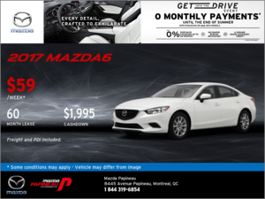Save Big on the 2017 Mazda6 GX!