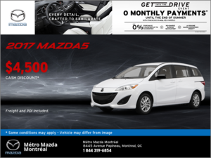 Save Big on the 2017 Mazda5 GS!