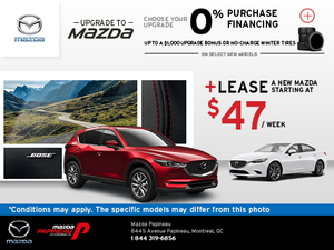 Mazda Papineau's Monthly Sales Event!