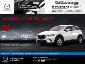 Obtenez la Mazda CX-3 2017