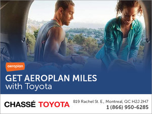 Get Aeroplan Miles with Toyota