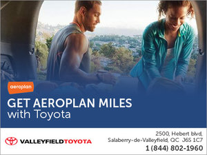 Earn Aeroplan Miles with Valleyfield Toyota