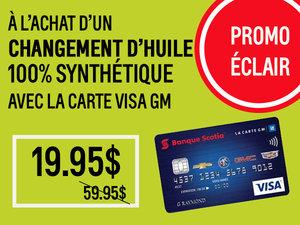 Promotion éclair, Carte Visa GM