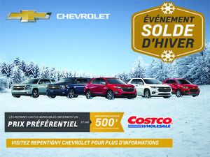 Programme Costco Chevrolet
