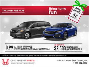 Bring Home a Honda!