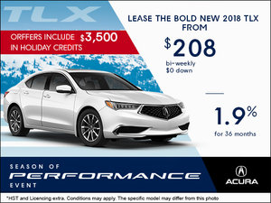 Save on the All-New 2018 Acura TLX Today!