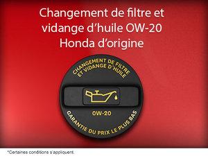 Huile Honda d'origine et changement de filtre
