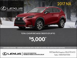 Get the 2017 Lexus NX Today!