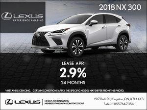 Get the 2018 Lexus NX Today!