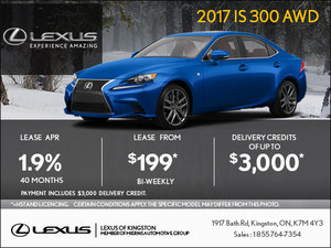 Get the 2017 Lexus IS Today!