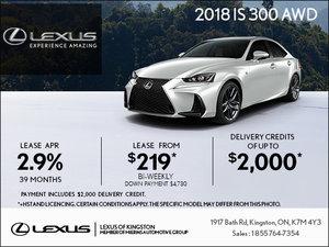 Get the 2018 Lexus IS 300 Today!