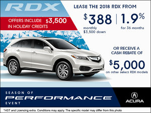 Drive Home the All-New 2018 Acura RDX Today!