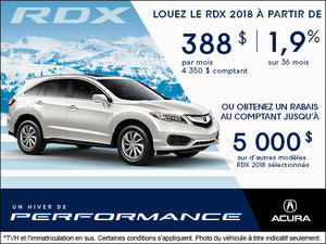 Conduisez l'Acura RDX 2018 aujourd'hui!