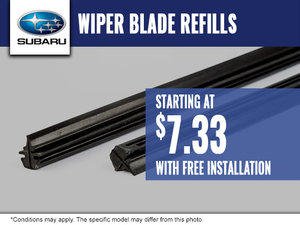 Free Installation with Purchase of Wiper Blade Refills