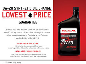 Lowest-Price Guarantee on Synthetic Oil Change