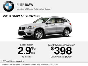 Get the 2018 BMW X1 xDrive28i Today!