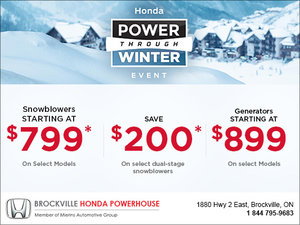 Power through winter event