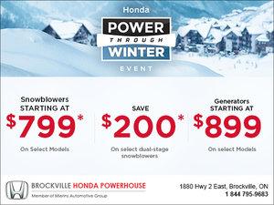 Power through winter event