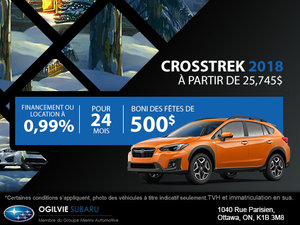 Obtenez le Subaru Crosstrek 2018