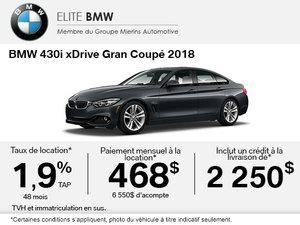 Obtenez le BMW 430i xDrive Gran Coupé 2018 aujourd'hui!
