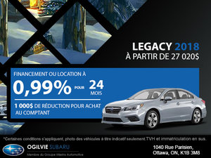 Obtenez la Subaru Legacy 2018