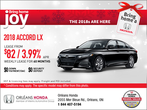 Save on a 2018 Honda Accord Today!