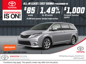 Get the 2017 Toyota Sienna!