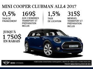 La MINI Cooper ALL4 Clubman 2017