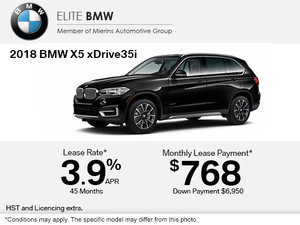 Get the 2018 BMW X5 xDrive35i Today!