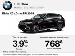 Obtenez le BMW X5 xDrive35i 2018 aujourd'hui!