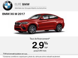 Obtenez le BMW X6 M 2017 aujourd'hui!