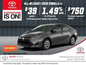 Get the 2018 Toyota Corolla Today!