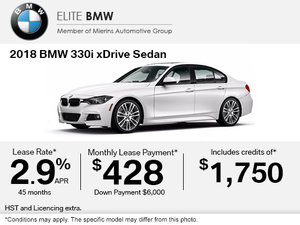 Get the 2018 BMW 330i xDrive Today!