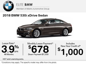 Get the 2018 BMW 530i xDrive Today!